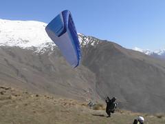 Paragliding Treble Cone (_Tola_) Tags: new flying cone zealand nz gradient alfredo paragliding wanaka felipe treble parapente bustamante supair esturillo