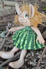 Custom Groffle (Scribble Dolls) Tags: cute art toy happy stuffed doll sweet handmade ooak critter small plush softie tiny stuffedanimal handpainted plushie troll handsewn artdoll cloth creature sewn scribbledolls