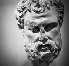 330 BC (miemo) Tags: old autumn blackandwhite bw berlin fall broken statue museum germany deutschland europe head olympus altesmuseum marble omd olympus45mmf18 em5mkii
