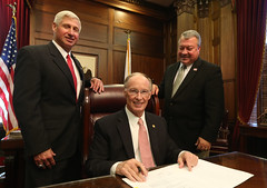 10-14-2015 Governor Bentley Ceremonially Signs HB--58, the Alabama Jobs Act