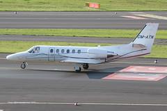 OM-ATN - 2002 build Cessna 550B Citation Bravo, taxiing to parking on arrival at Dusseldorf (egcc) Tags: bravo eat dusseldorf cessna citation 550 bizjet dus eddl cessna550 ce550 airtransporteurope omatn 5501040 okvsz