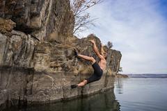 Steve Heel Hook! (kinkbmxco) Tags: climbing bankslake deepwatersoloing