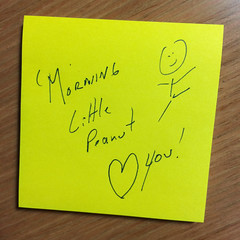 just a little note (woodleywonderworks) Tags: love little note peanut everyday partner img7838