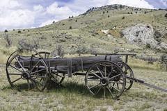 Abandoned wagon (Alan Vernon.) Tags: abandoned wagon town rust montana ghost wheels rusty vehicle weathered pioneer bannack