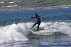 Surfing in Lahinch (seanneachtain) Tags: ireland wild way surfing atlantic lahinch atlamtic