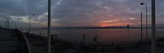 River Mersey Sunset (metrogogo) Tags: sunset liverpool river pano birkenhead mersey echoarena thewirrel