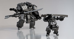 Noble Alien Warriors (Garry_rocks) Tags: lego alien mecha hardsuit