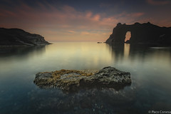 Colours in the Arch (Paco Conesa) Tags: longexposure sunset costa clouds atardecer spain murcia paco 2015 conesa arcodelrey