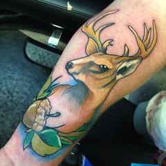 Buck (RandalFalcone) Tags: art tattoo houston tattoos tat tattooart tats colortattoo blackandgreytattoo customtattoo houstontattoo springtattoo woodlandstattoo conroetattoo