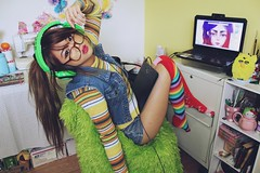 IMG_9547 (krizkolovesyou) Tags: cute colors fashion socks digital canon computer asian rainbow sock colorful asians technology drawing expression laptop bamboo gaming thigh colored canonrebel pinay knee c4c tablet comment asiangirl highs asiangirls razer canonn canon600 canonti canon600d canont3i