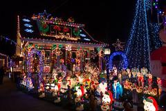 Christmas lights (feeling inadequate) (Blake Bolinger) Tags: house home night lights newjersey nj christmaslights hamiltontownship