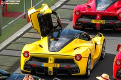 Ferrari LaFerrari (effeNovanta - YOUTUBE) Tags: italy cars car yellow canon eos video italia ferrari banana montecarlo monaco supercar supercars cavalcade youtube vallelunga topmarques labanana laferrari layellow autodromovallelunga topmarquesmontecarlo canon1100d monacotopmarques ferrarilaferrari ferraricavalcade ferraricavalcade2015