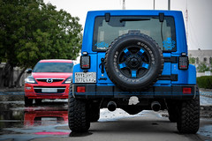 My Big Toys (dr.7sn Photography) Tags: city blue light red black metal doors jeep smoke tail 4 hydro cover saudi arabia polar jeddah mazda edition 2009 hitch exhaust wrangler 2014 mulisha cx9
