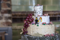 Lego cheese cake (crgshpprd) Tags: wedding food cake cheese groom bride stuffed photographer lego doctor grapes celebrate
