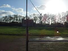 innerhalb der Barrieren (mkorsakov) Tags: abandoned sign decay rip ground schild stadion verfall fusball waldstadion leerstand waltrop seufz vfbwaltrop