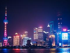 Shanghai skyline (miemo) Tags: china city travel autumn sky urban fall skyline architecture night buildings river lights asia cityscape skyscrapers shanghai olympus neonlights yangtze pudong bund jinmaotower highrises omd thebund orientalpearl swfc shanghaitower shanghaiworldfinancialcenter panasonic20mmf17 em5mkii