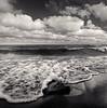 7th Wave (Joe Iannandrea) Tags: blackandwhite seascape ontario canada beach nature water rock clouds landscape outdoors wave ilfordhp5 shore lakeontario isf filmphotography bronicas2a pmkpyro jordanstation epsonv500 50mmf28nikkoro