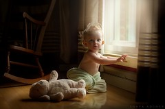 The Afterbath (Sonya Adcock Photography) Tags: baby infant child kid gerberbaby childphotography light glowwindowlight teddybear stuffedanimal rockingchair bath aftermath fineartphotography childhood nostalgic nostalgia indoors inside sonyaadcock sonyaadcockphotography nikon nikkor nikkor105mmdc