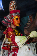 Getting Ready for Theyyam - 2 (Anoop Negi) Tags: theyyam india kerala kannur dancer performer red paint body religion hindu hinduism portrait anoop negi ezee123 photo photography