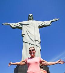 Tarja and Christ statue (TimoOK) Tags: brasilia brazil riodejaneiro patsas statue corcovado tarja