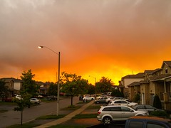 Fiery sky (Kobie M-C Photography) Tags: sunset sky clouds orange yellow grey mobilephotography lgg4 naturephotographer sureal beautiful gold golden