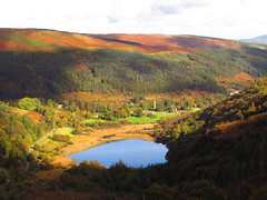 Glendalough in Autumn (sam2cents) Tags: nature landscape autumn ireland mountains wicklowmountainsnationalpark lowerlake monastic ancient wicklow trees hills