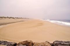 Costa Nova - L dove arrivano le onde (Celeste Messina) Tags: costanova portogallo portugal sabbia sand oceano ocean atlantico atlantic rain rainyday aveiro foschia mist atmosfera atmosphere spiaggia bagnasciuga beach shore onde waves dune dunes