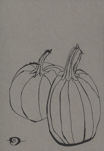Pumpkins waiting to  carve
