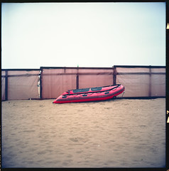 (Quicksilver) (Robbie McIntosh) Tags: rolleiflex rolleiflex28e rolleiflex28e2 rolleiflexplanar28e carlzeissplanar80mmf28 tlr 120 mediumformat 6x6 square negative film filmisnotdead moyenformat mittelformat medioformato pellicola selfdevelopment dyi homedevelopment kodak kodakektar100 ektar newtopographics newtopography c41 color bellinifoto bellinic41 bellini decay landscape beach hut patria canaledipatria licola licolamare lidodilicola varcaturo rain raft quicksilver