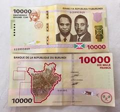 "Currency: Burundian Franc - exchange rate August 2016: 1€ = 1,845.0 BIF Bujumbura, Burundi  #itravelanddance • <a style=""font-size:0.8em;"" href=""http://www.flickr.com/photos/147943715@N05/30195455230/"" target=""_blank"">View on Flickr</a>"