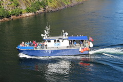 Tourist Boat in the Trollfjord, Norway (2) (Phil Masters) Tags: 21stjuly july2016 norwayholiday norway raftsund raftsundet thetrollfjord trollfjorden trollfjord shipsandboats tourists