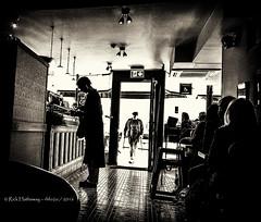 Coffee Shop Explore #11 (Rick Hathaway - rhfo2o) Tags: rhfo2o samsung samsunggalaxys6 bath somerset coffeeshop coffee bw blackandwhite mono silhouette inexplore