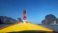 IMG_9083 Long Tail Phang Na, Thailand (suebmtl) Tags: thailand phangna phangnanationalmarinepark longtail colorful karst mountains scenic water