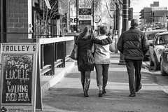 48 52 (hey ~ it's me lea) Tags: people walking calgary bw sign beer 52in52 4852