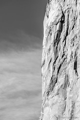 Yosemite Valley - El Capitan Abstract - 2054_B&W (www.karltonhuberphotography.com) Tags: 2016 abstract bw blackandwhite california challenge cliffface closeup details elcapitan form geologicwonder geology granitewall iconic intight karltonhuber lines monochrome monolith mountainclimbing mountainside outdoors rock rugged sky texture verticalimage verticalworld wall wildplaces yosemite yosemitenationalpark yosemitevalley yosemiteconnect