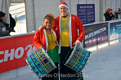 Juliana and Ritchie from Katumba (James O'Hanlon) Tags: santadash santa dash katumba liam smith paul stephen liamsmith paulsmith stephensmith alankennedy philipolivier tinhead alan kennedy btr juliana ritchie photo shoot press ice rink icerink lfc