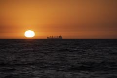 Ghost Ship at Sunset-Cottesloe WA (Ross A Jones) Tags: wa cottesloe sunset sundown perthwa orange cottesloesunset perthsunset australiansunset ghostship