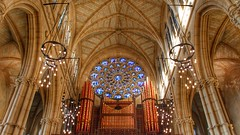 Praise be to (Nick Fewings 4.5 Million Views) Tags: symmetry majesty splendour craftsmanship beauty praise god christ colours architecture wow religious religion window rosary organ westsussex arundel church cathedral ceiling