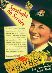 KOLYNOS Dental Cream - W.R.N.S. (OldAdMan) Tags: oldadman advertisements advertising vintage healthbeauty kolynos dental cream toothpaste propaganda
