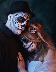 Dia De Los Muertos 4 (CraigDawson) Tags: portrait makeup theatrical halloween dia de los muertos sugar skull lencarta smartflash octa bessel strobist painted canvas people