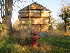 The Forgotten Farm House (Timothy Pitonyak) Tags: farmhouse historic colonial john rogers park mercercounty woods trees revolutionary war fire hydrant 1761 architecture masonary brick farm traditional westwindsor newjersey design exterior abandon