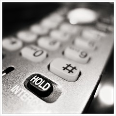 Day 327 - Customer Service (Free 2 Be) Tags: phone hold postaday 365 waiting dailyphoto photoaday onhold monochrome project365 blackandwhite