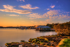 Sunset Light (satochappy) Tags: sunset jetty pier river riverside australia sydney putney