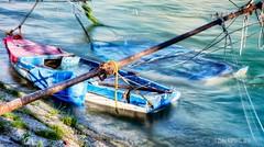 SINKING BOATS (zkapov1) Tags: croatia rijeka rjecina fiume sinking boats river green berth hdr ndfilter longexposure blue