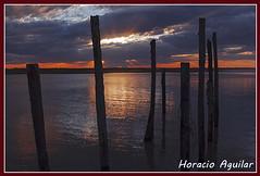 Atardecer en San Clemente del Tuy (Florin Paucke) Tags: atardecer paisaje ecologa ecosistema turismo tranquilidad canon costa ro rodelaplata muelle