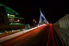Bridge (Kyle Becker) Tags: bridge lights cars streaks