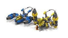 Banshee VTOL (CK-MCMLXXXI) Tags: lego moc spaceship starfighter vtol ldd custom ldr