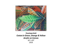 """Croton in Green, Orange & Yellow • <a style=""""font-size:0.8em;"""" href=""""https://www.flickr.com/photos/124378531@N04/31178558485/"""" target=""""_blank"""">View on Flickr</a>"""