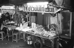 Thong Lo - Bangkok (35mm) (jcbkk1956) Tags: thonglo sukhumvit bangkok thailand street food thai streetfood streetvendors stall cart film 35mm analog ilfordpan100 ilford yashica yashinon ministerd worldtrekker