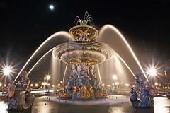 Paris (Noir et Blanc 19) Tags: paris fontaines placedelaconcorde nightlights nuits sony a77